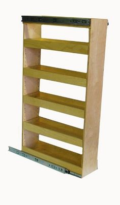 "pre-built pantry pull out $448, up to 11.5"" opening, 45.5 tall.  adjustable shelf heights"