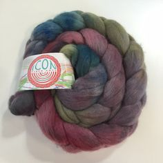 Organic Polwarth Roving in Succulent by Icon Fiber Arts