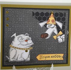 Focus on Papercraft: Cute Crazy Dog birthday card - Tap the pin for the most adorable pawtastic fur baby apparel! You'll love the dog clothes and cat clothes! <3