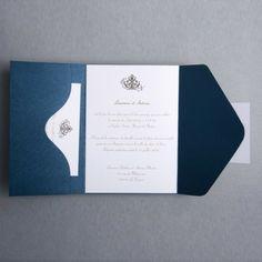 Thème Simple Faire Part Mariage Poche Style JM323 #weddinginvitations #weddingcards #joyeuxmariage