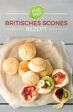 British Scones Recipe – Afternoon Tea in the fine English way! English Breakfast, English Scones, English Food, British English, Tea Recipes, Baking Recipes, British Scones, Cooking Box, Brunch