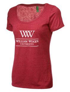 William Woods University Owls District Women's Textured Scoop T-Shirt (DM471) $34.99