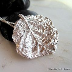 Fine Silver Leaf Pendant  Coleus Leaf Necklace by PPennee on Etsy, $58.00  This is one of the most detailed leaves I have done yet- I'm loving this one