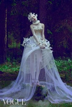 PhotoVogue- Look, Vogue may take a lot of hits for how thin their models are, but they have shots like this... thus I'm a fan.  photograph by Natalie Shau