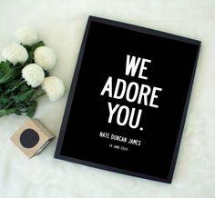 We Adore You. Custom Print by MySweetPrints on Etsy #black