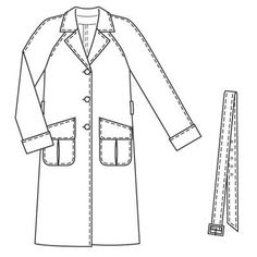Burdastyle 03-2009-115 Trench coat, 38-46