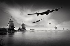 Operation Chastise first wave.       Not B-17 but a neat photo