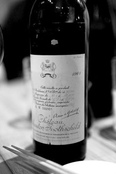 1961 Mouton Rothschild, the year of my birth. #41 on my bucket list