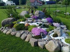 Urban Backyard Garden Design and Kindness Rock Garden Ideas. Rock Garden Design, Garden Landscape Design, Landscape Plans, Yard Design, Landscaping Supplies, Front Yard Landscaping, Backyard Landscaping, Landscaping Ideas, Backyard Ideas
