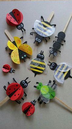 Insect Crafts, Bug Crafts, Rock Crafts, Preschool Crafts, Diy And Crafts, Arts And Crafts, Paper Crafts, Diy For Kids, Crafts For Kids