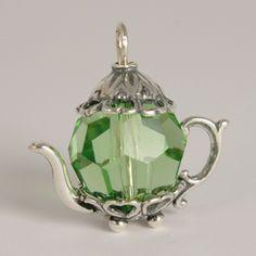 Victorian Rose Teapot Charm | Tea and Teapot Charms & Charm Bracelets
