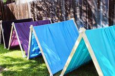 Backyard day camping