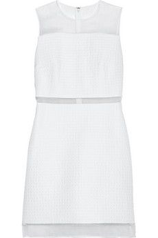 Must have this LWD by Victoria, Victoria Beckham Silk organza-trimmed quilted faille dress | NET-A-PORTER