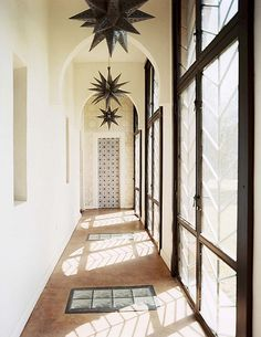 love the windows and lights in this hall - peacock pavilions, marrakech by the style files, via Flickr