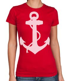 Womens NAUTICAL ANCHOR TShirt american apparel by happyfamily With nice jeans and a blazer