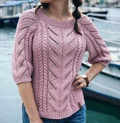 Ideas Knitting Patterns Free Sweater Women Lace Fashion Outfits For 2019 Crochet Blouse, Knit Crochet, Knit Fashion, Fashion Outfits, Rib Stitch Knitting, Skirt Pattern Free, Knitting Patterns Free, Crochet Patterns, Knitted Hats