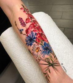 Best Pastel Color Flower Tattoos For Girls - Shake that bacon tattoo color Tattoo Girls, Girl Tattoos, Tattoos For Women, Tattoos For Guys, Tatoos, Pretty Tattoos, Love Tattoos, Beautiful Tattoos, Body Art Tattoos
