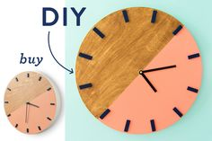 Whether you like to buy or DIY here's a gorgeous wall clock you can shop or make…