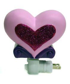 This Pink Glitter Heart Night-Light is perfect! #zulilyfinds