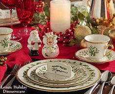 gorgeous christmas tables | Lenox Holiday Dinnerware Christmas Table Setting