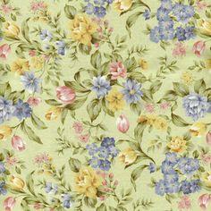 D034 - Floral Armsterdam Verde da Fabricart Tecidos
