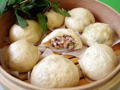 pork and mushroom dumpling