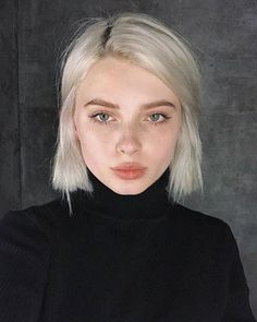 White-Blonde-Hair-Color Trendy Hair Colors for Short Hair for Ladies hair blonde White Blonde Hair, Short White Hair, Bleach Blonde Hair, Short Bleached Hair, Ash Blonde, Colored Short Hair, Cute Hair Colors, Trendy Hair Colors, Two Color Hair