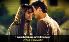 A walk to remember quote