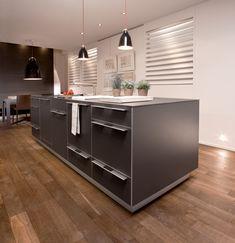 Design Parquet, Pose Parquet, My Home Design, Cuisines Design, My House, Kitchen Island, Cabinet, Storage, Furniture