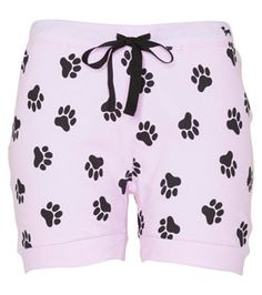 Peter Alexander - Kitty Cat Collection - Paw Print Shorts aka The Cats Pyjamas