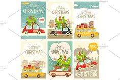 Xmas Posters Winter Holidays Set by elfivetrov on @creativemarket