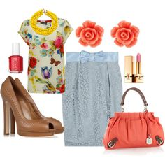 Easter Outfit, created by fleurdelove