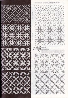 Photo from album Дуплет on Yandex.Use imgbox to upload, host and share all your images.Hopefully the diagrams are enough. Filet Crochet, Crochet Stitches Chart, Crochet Lace Edging, Crochet Motifs, Crochet Diagram, Irish Crochet, Knit Crochet, Crochet Flor, Lace Patterns