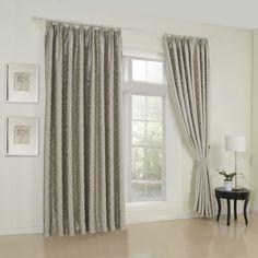 Floral Barroco Grey Blackout Curtains  #curtains #decor #homedecor #homeinterior #grey