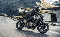 Download imagens A Husqvarna Vitpilen 701, 2018, 4k, motos novas, moto legal, montanhas, A Husqvarna