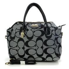 Coach Logo In Monogram Medium Grey Satchels BOE Give You The Best feeling!
