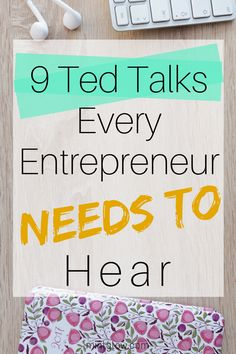 If you're not already listening to Ted Talks, I highly recommend you start! You can listen to some amazing people talking about (basically) any subject ever. Entrepreneur Motivation, Business Motivation, Creative Business, Business Tips, Business Quotes, Business Planning, Business Marketing, Media Marketing, Online Business