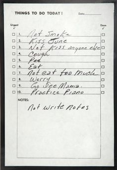 Johnny Cash to-do list.... omg i'm so obsessed with this.