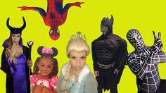 Spiderman and Frozen Elsa Compilation w Batman Captain America Maleficent Minnie Mouse Superheroes