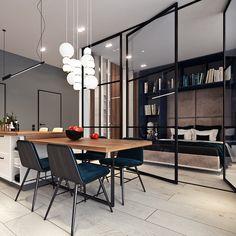 3 Schöne Studio Apartment Designs Kombiniert Mit Modernen Und Schicke  Dekor Ideen #apartment #designs #kombiniert #modernen #schone #studio