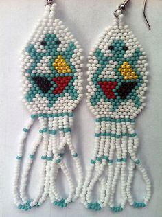 Beaded Turtle Earrings | eBay