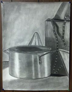 """Got any Pot?"" -- Scott Swalley (Charcoal on paper)"