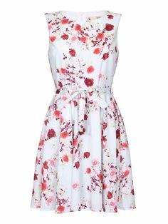 486a342884b Yumi Rose Print Dress Light Blue Size UK 14 rrp 45 DH170 BB 09  fashion