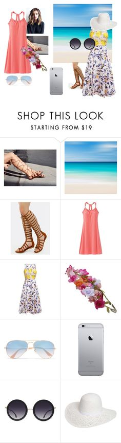 """Dresses and Gladiator sandels"" by james-potter-is-mine ❤ liked on Polyvore featuring prAna, L.K.Bennett, Accessorize, Ray-Ban, Alice + Olivia and Dorothy Perkins"