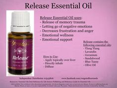 Young Living Essential Oil Release. Release memory trauma and let go of negative emotions. www.facebook.com/wegotoffourmeds #containerhome #shippingcontainer
