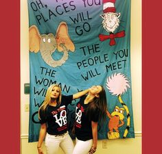 """""""Oh the places you will go..."""" Phi Mu banner during recruitment Recruitment Themes, Phi Mu, Sorority, Banners, Banner, Posters"""