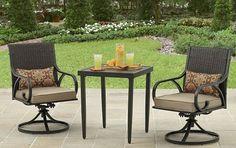 Rocker Outdoor Bistro Set Patio Outdoor Swivel Chairs Table Backyard Furniture  #RockerOutdoorBistroSet