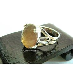 Statement Ring Scarab Topaz Gemstone Sterling Silver Handcrafted .925... (€21) ❤ liked on Polyvore featuring jewelry