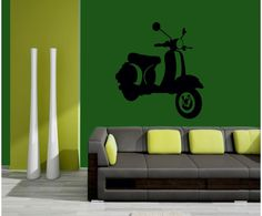 Cool #scooter #wall #sticker by #meSleep available on our site at a #discounted #price. Check it out on http://www.makenlive.com/products/9508/walls-and-paints/wall-stickers/Scooter  #art #decor #home #design #idea #interior