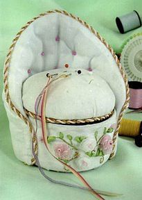 pincushion - make this with a tin can and life the seat off for storage